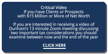 Dunham end of year tax video