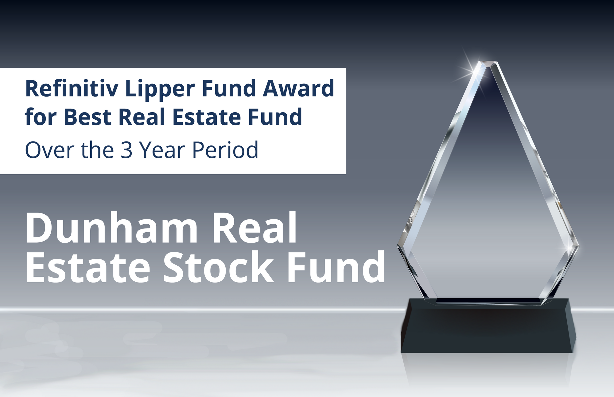 Dunham Receives Refinitiv Lipper Fund Award for Best Real Estate Fund Over the 3 Year Period
