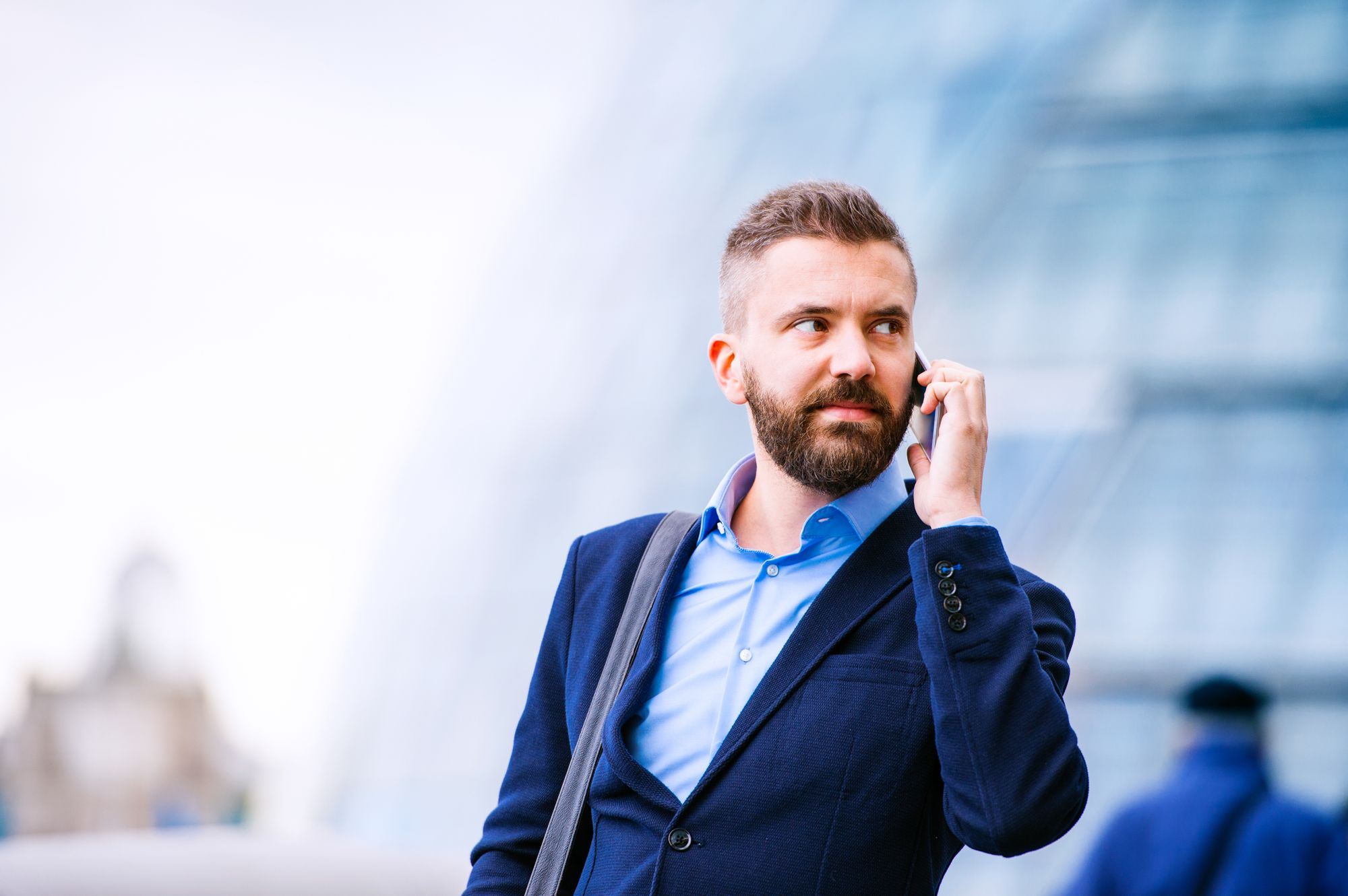 Businessman uses seven follow-up strategies for turning prospects into clients